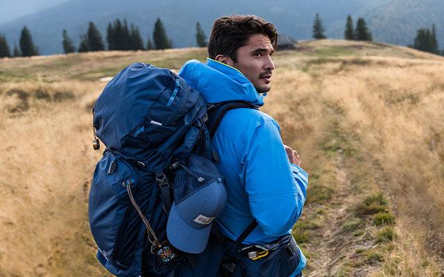 Men Trekking
